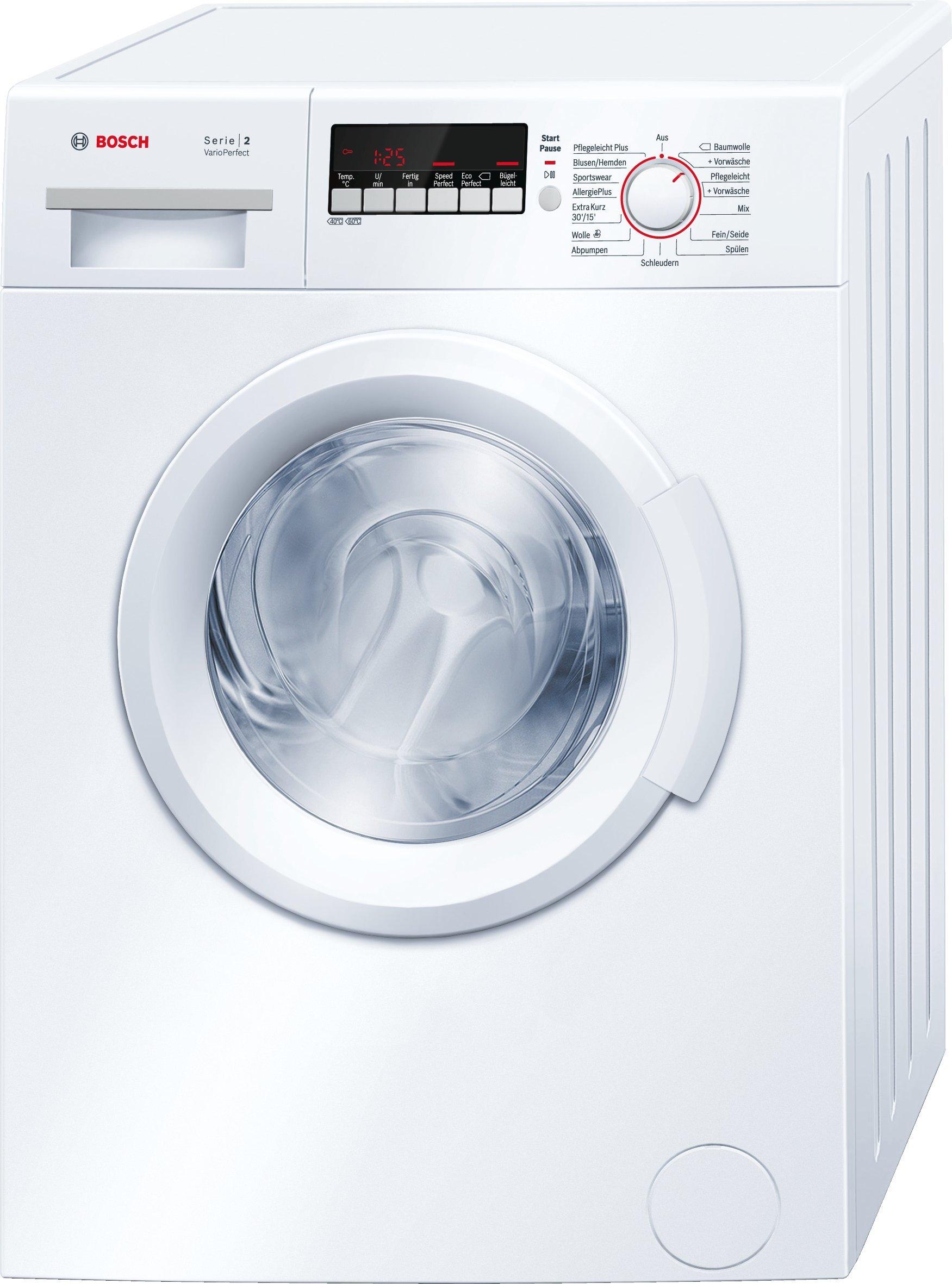Bosch WAB28222 Serie 2 Waschmaschine Frontlader, 6 kg Füllmenge, AllergiePlus, VarioPerfect