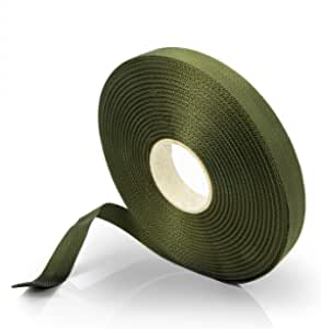 Effaband Tree Binder 25 M Plant Tie Made Of Weather Resistant And Rot Proof Polyester In Olive Green Width 35 Mm Garten