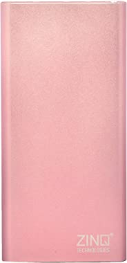 Zinq Technologies Z10KPMQ 10000mAh Lithium Polymer Fast-Charge Power Bank with Dual Output and Type C Input (Rose Gold)
