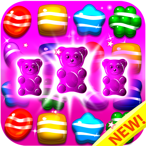 Candy Gummy Bears 2018 - Match 3 Puzzle Games Free! Play the Legend of Yummy Candy Blast Mania (Top free match three games in Candy Land Board Game For Kindle Fire) - Splash Top