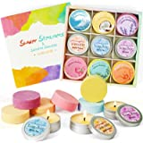 LA BELLEFÉE Lot Bombes de Douche avec Bougies Parfumées à Base d'Huiles Essentielles, Coffret Cadeau Bien-Être Aromathérapie