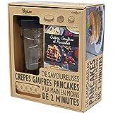 COOKUT - Shaker Miam - Réalisez Une pâte à crêpes ou Pancakes Parfaite en Moins de 2mins - Pratique, sans Robot, sans Balance