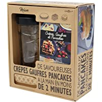 COOKUT - Shaker Miam - Réalisez Une pâte à crêpes ou Pancakes Parfaite en Moins de 2mins - Pratique, sans Robot, sans…