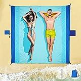 Picknickdecke Wasserdicht Stranddecke Strand Zubehör - Strandmatte Sandfrei Picknickdecke Groß 210*200 cm, Strandmatte Gepols