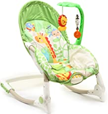 The Flyers Bay Fiddle Diddle Newborn to Toddler Portable Baby Rocker (Multi Green, Fd-88945-1)