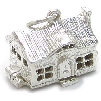 Church opening sterling silver charm .925 x 1 Holy Churches charms BJ1427