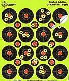 """25Pack-5,1cm """"Stick & Splatter"""" Splatterburst Klebend Reaktive Schussziele - Sehen Sie Ihre Schüsse aufbrechen helles fluoreszierendes Gelb beim Aufprall - Ausgezeichnet für alle Schusswaffen, Gewehre, Pistolen, Luftgewehre und Airsoft"""