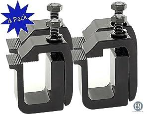 g-302Klemme für Hardtop/Camper Shell Schwarz Pulver, (Set von 4)