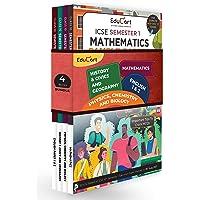 Educart ICSE Semester 1 MCQ Sample Papers Books Main Subjects Bundle Class 10 - English 1 & 2, Maths, Physics, Chemistry…