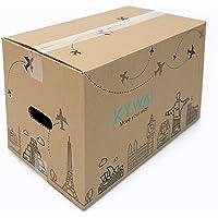 KYWAI. Confezione da 10 scatole di cartone per trasloco, 50 x 30 x 30 cm, grandi con manici, scatola di cartone…