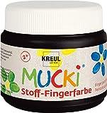 Kreul 28106 - Mucki leuchtkräftige Stoff - Fingerfarbe auf Wasserbasis, parabenfrei, glutenfrei, laktosefrei und vegan…