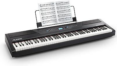 Alesis Recital PRO - Digital Piano / Keyboard mit 88 Hammer Action Keys, 12 Premium Klängen, 20W Lautsprecher, Kopfhörerausgang und leistungsstarke Schulungsfunktionen