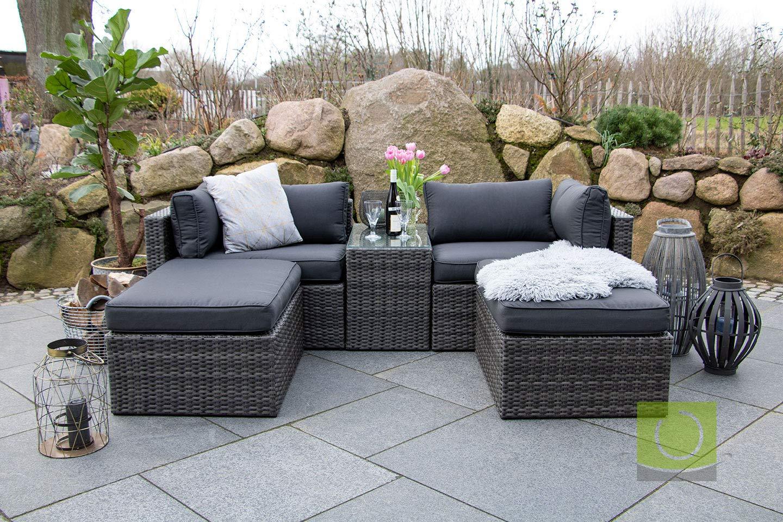 Multifunktions Loungegruppe Gartenlounge Set Gartensofa Ecksofa Aus Polyrattan Garten Sitzgruppe Für Garten Oder Terrasse Grau Preisluchscom