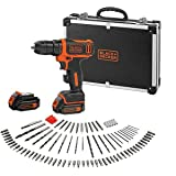 Black+Decker accuboormachine (10,8 V 1,5 Ah, ultra compact & licht, met led-werklamp, softgrip, incl. 200 mA laadkabel, 2 x a