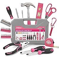 Hi-Spec 42-teiliges Heim DIY-Werkzeugkoffer für Frauen. Handwerkzeuge & 2-in-1-Schraubendreher-Bit-Griff für Reparaturen…