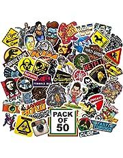 Junkyard Vinyl Stickers for Electronic Gadgets, Scrapbook, car n Bikes (Pack of 50)