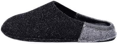 Le Clare Nuvola Bicolore - Pantofola Invernale Donna in Panno di Lana con Plantare Estraibile - Bicolore