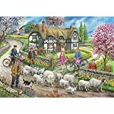 The House Of Puzzles Puzzle 1000 Teile - Daffodil Cottage