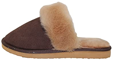 0b5ee2ab5 Furfurmouton Genuine Australian Sheepskin Slippers Sheep Wool With Cowhide  Leather Slippers Women's Super Thick Premium Sheep