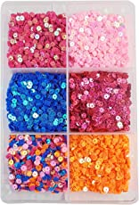 eshoppee Sequins Sitara, 150 gm Box,for Jewellery Making Embroidery Material Art and Craft DIY kit, Glitter Sequince Rhinestones Beads