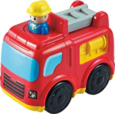 Baybee Infunbebe Unbreakable Press and Go Fire Engine Vehicle Toy for Kids