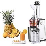 Extracteur de Jus de Fruits et Légumes vertical GSX24 H.Koenig Centrifugeuse Vitamin + sans BPA - 82 mm Large Bouche - 3 tami
