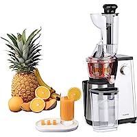 Extracteur de Jus de Fruits et Légumes vertical GSX24 H.Koenig Centrifugeuse Vitamin + sans BPA - 82 mm Large Bouche - 3…