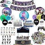 Decoración de la Fiesta de Videojuegos, 123 PCS Artículos de Fiestas para Fanáticos de los Videojuegos Cumpleaños Infantil de
