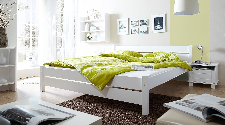 """Ticaa einzel  und doppelbett """"bora"""" kiefer weiß: amazon.de: küche ..."""