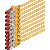 2m - Jaune - 10 pièces - CAT6 Câble Ethernet Set - Câble Réseau RJ45 10/100 / 1000 Mo/s câble de Patch LAN Câble |Cat 6 S-FTP