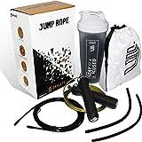 Jaylete Jump Rope springtouw met tas - duursport in de gym, crossfit, boksen, fitnessstudio, HIIT, MMA, kindertouwspringtrain