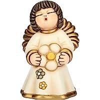 THUN - Angelo dell'Amicizia con Fiore - Formato Piccolo - Ceramica - 11,5 cm h