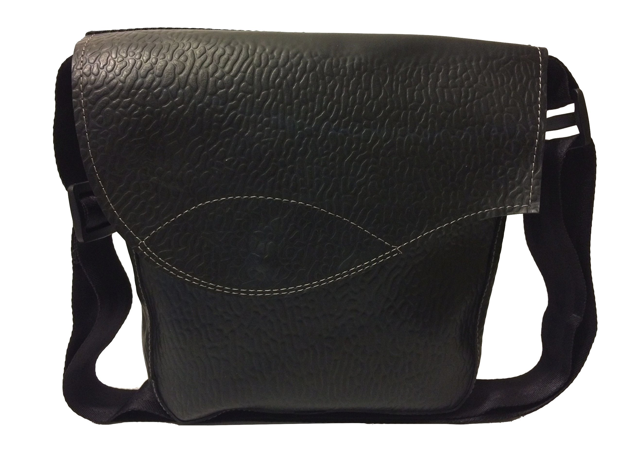 Recycled Rubber shoulder bag Tata - handmade-bags