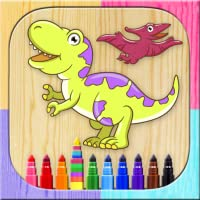 Magic paint dinosaurs – Painting and coloring dinosaurs game for children - Fingerpaint