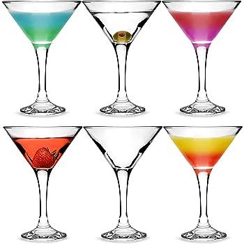 City Martini Cocktail Gläser 175ml–Set von 6–Geschenkbox Classic V Martini Gläser zum Servieren von Cocktails
