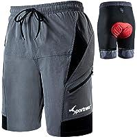 Sportneer Mountain Bike Shorts for Men Cycling Shorts Mens MTB Shorts Cycle Shorts Lightweight and Baggy with Zipper…