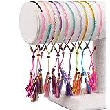 KELITCH 3 PCS Coppie di Colore Filo di Cotone Boho Amicizia Braccialetti Handmade del Braccialetto del Braccialetto Arcobalen