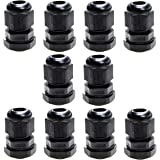 Sucre Auxiliary /® Cable Glands Waterproof IP68 Compression M8, Black, 1