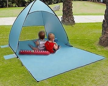 Rain Fly Tarps Tecare Portable Tent With Tarp For Beach Kids Play Garden / Backpacking / Hiking / Lightweight /Easy Setup Outdoors Anti UV Sun Shelters ... & Rain Fly Tarps Tecare Portable Tent With Tarp For Beach Kids Play ...