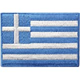 Bandiera della Grecia Emblema nazionale Termoadesiva Cucibile Ricamata Toppa