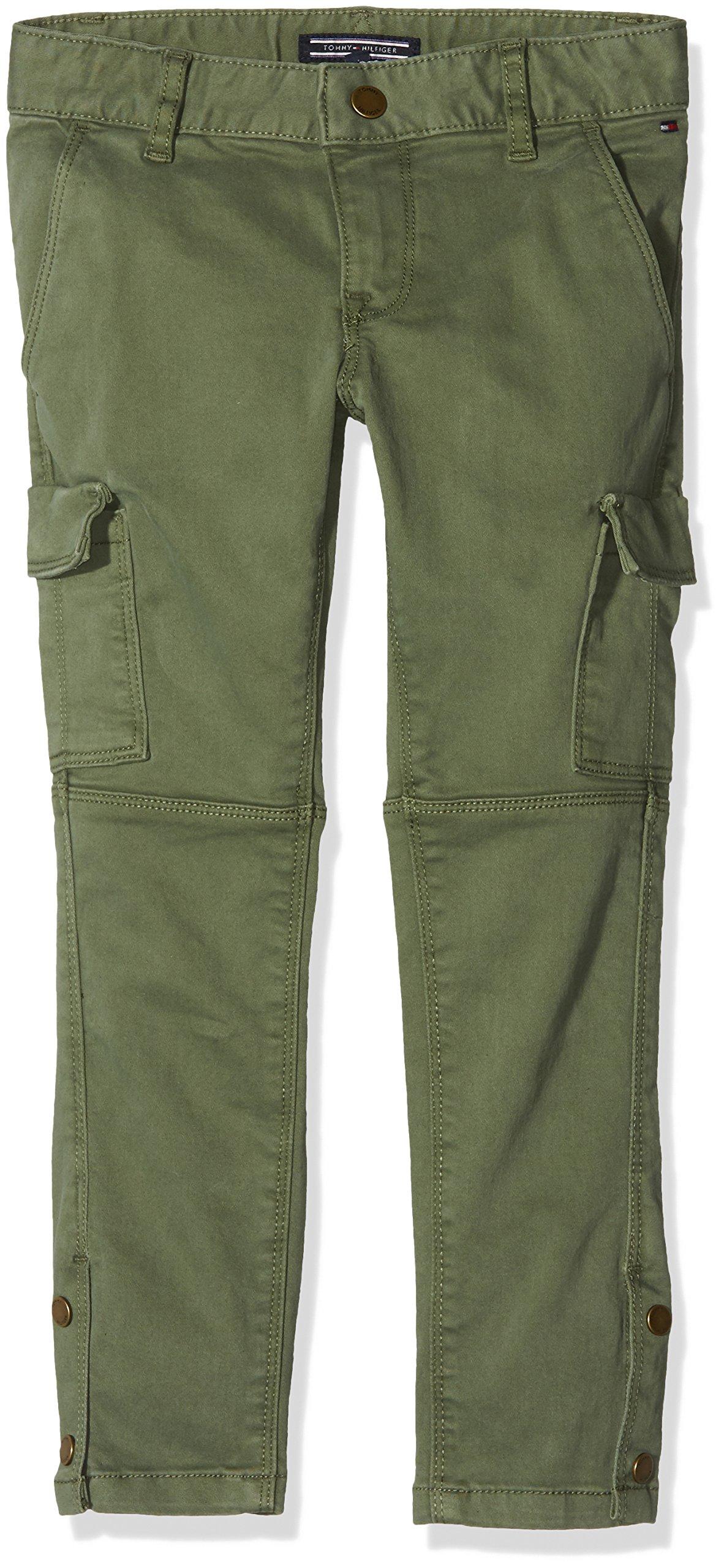 Tommy Hilfiger Utility Reg Rise Skinny Stat GD Pantalones para Niñas