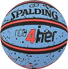Spalding 1700067 Rubber Basket Ball, Size 6 (Sky Blue/Peach)