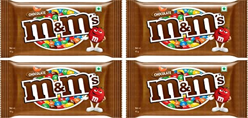M&Ms Milk Chocolate Candies (45g) - Pack of 4