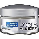 L'Oreal Men Expert Hydra Intensive Feuchtigkeitscreme, Gesichtspflege für sensible Männerhaut, zieht schnell und ohne Rückstände ein, ohne fetten (1 x 50 ml)