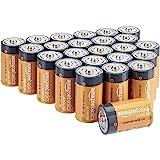 Amazon Basics - Pilas alcalinas D, de 1,5 voltios, gama Everyday, paquete de 24 (el aspecto puede variar)
