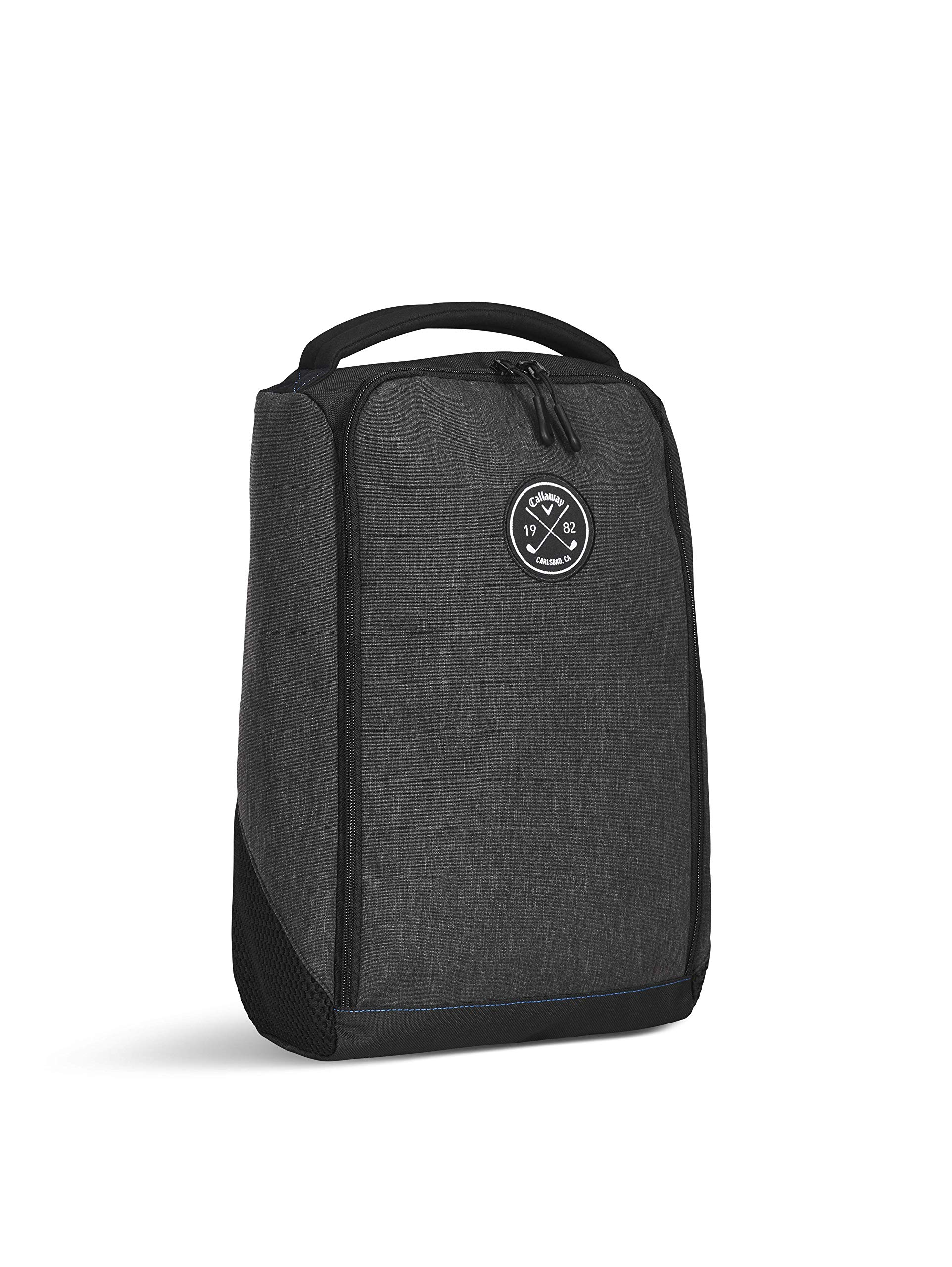 Callaway Men's Clubhouse Shoe Bag, Black, One Size Callaway Padded Comfort Grip Handle Dual Side Air Vents Easy Glide Zipper 1