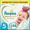 Pampers Premium Care, Rozmiar 5, 136 Pieluszki, Najdelikatniejszy Komfort I Najlepsza Ochrona Skóry Oferowane Przez Pampers,