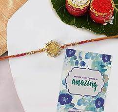 TIED RIBBONS Designer Rakhi for Brother with Rakshabandhan Special Card