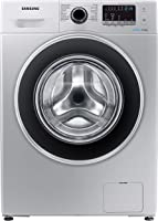 Samsung 8 Kg 1200 RPM Diamond Drum, Front Load Washing machine with Eco Bubble, Silver - WW80J4260GS