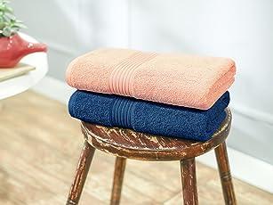 Swiss Republic Signature 600 GSM Bath Towel - Set of 2 (Pink/Blue)